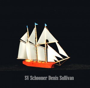 Schooner Denis Sullivan created in miniature by Lee Murdock